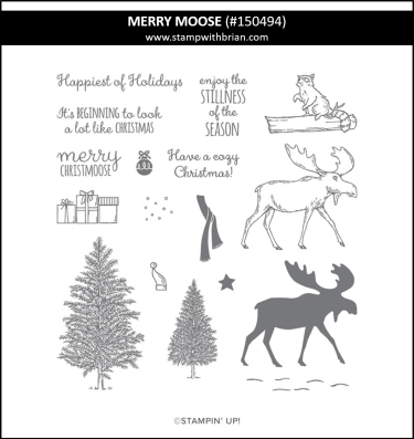 Merry Moose, Stampin Up! 150494
