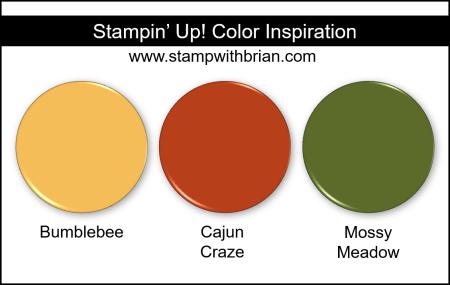 Stampin' Up! Color Inspiration - Bumblebee, Cajun Craze, Mossy Meadow