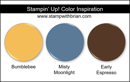 Stampin' Up! Color Inspiration - Bumblebee, Misty Moonlight, Early Espresso