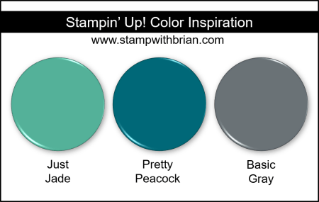 Stampin' Up! Color Inspiration - Just Jade, Pretty Peacock, Basic Gray