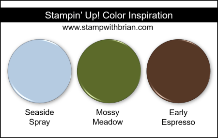Stampin' Up! Color Inspiration - Seaside Spray, Mossy Meadow, Early Espresso