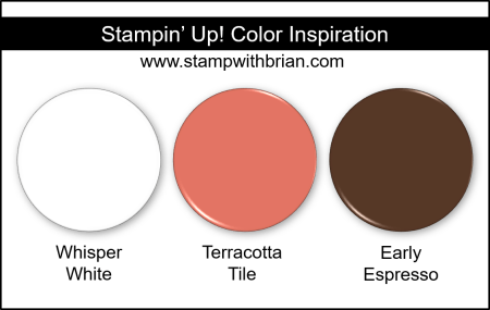 Stampin' Up! Color Inspiration - Whisper White, Terracotta Tile, Early Espresso