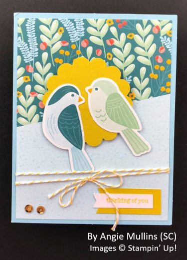 by Angie Mullins, Sending Love One-for-One Card Swap, Stampin Up!