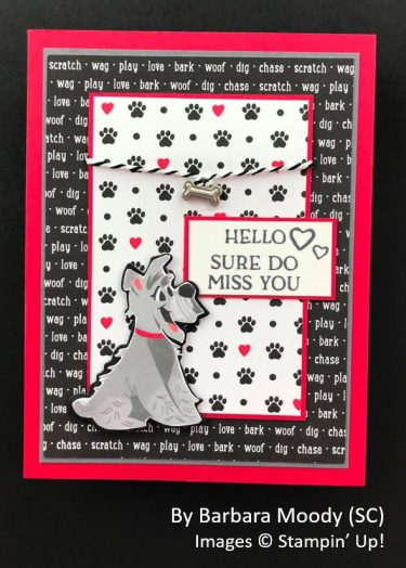 by Barbara Moody, Sending Love One-for-One Card Swap, Stampin Up!