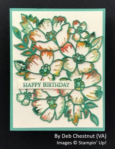 by Deb Chestnut, Sending Love One-for-One Card Swap, Stampin Up!