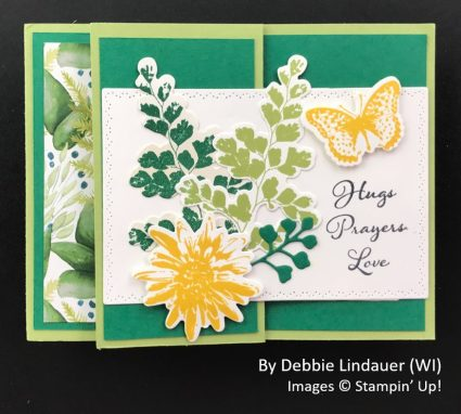 by Debbie Lindauer, Sending Love One-for-One Card Swap, Stampin Up! 1
