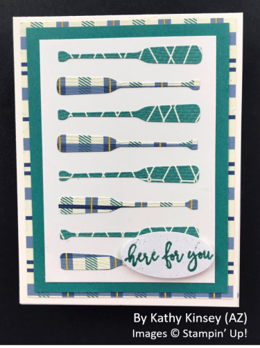 by Kathy Kinsey, Sending Love One-for-One Card Swap, Stampin Up!