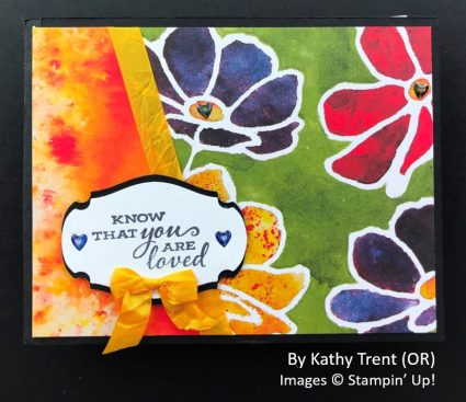 by Kathy Trent, Sending Love One-for-One Card Swap, Stampin Up!
