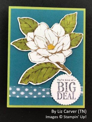 by Liz Carver, Sending Love One-for-One Card Swap, Stampin Up!