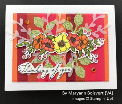 by Maryann Boisvert, Sending Love One-for-One Card Swap, Stampin Up!