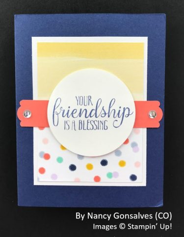 by Nancy Gonsalves, Sending Love One-for-One Card Swap, Stampin Up!