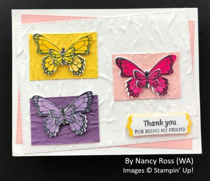 by Nancy Ross, Sending Love One-for-One Card Swap, Stampin Up!