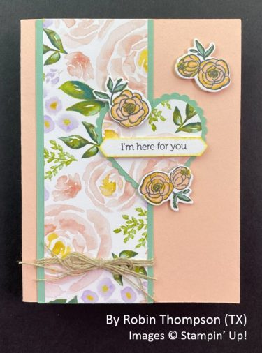 by Robin Thompson, Sending Love One-for-One Card Swap, Stampin Up!