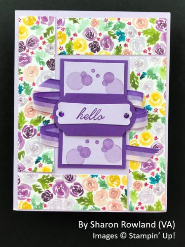 by Sharon Rowland, Sending Love One-for-One Card Swap, Stampin Up!