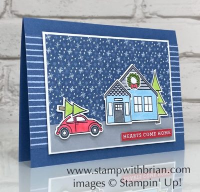 Coming Home Bundle, Trimming the Town, Stampin Up!, Brian King, Christmas card
