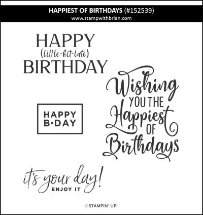 Happiest of Birthdays, Stampin Up! 152539