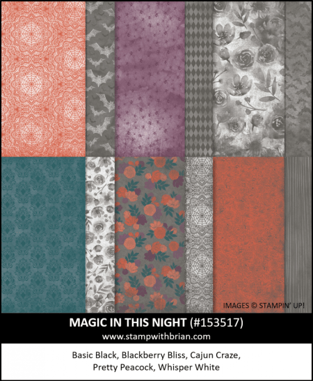 Magic in this Night Designer Series Paper, Stampin Up!, 153517