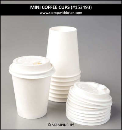 Mini Coffee Cups, Stampin Up!, 153493