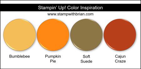 Stampin' Up! Color Inspiration - Bumblebee, Pumpkin Pie, Soft Suede, Cajun Craze