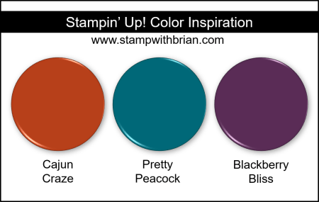 Stampin' Up! Color Inspiration - Cajun Craze, Pretty Peacock, Blackberry Bliss