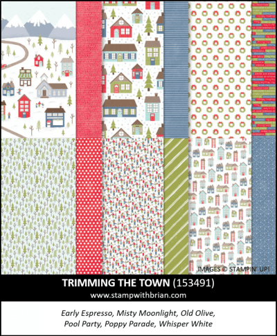 Trimming the Town Designer Series Paper, Stampin Up! 153491