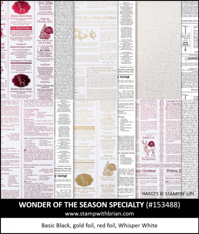 Wonder of the Season Specialty Designer Series Paper, Stampin Up! 153488
