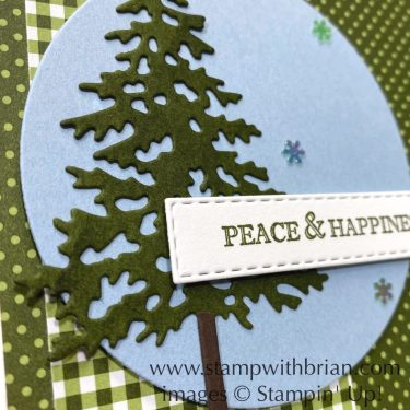 Itty Bitty Christmas, In the Pines, Stampin Up!, Brian King, Christmas card