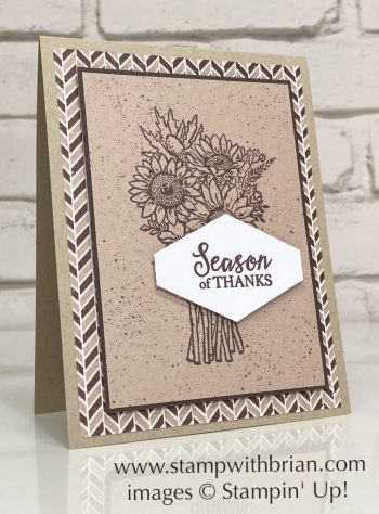 Jar of Flowers, Gather Together, Stampin Up!, Brian King, Thanksgiving card