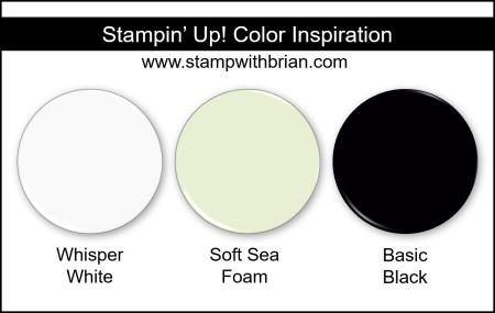 Stampin Up! Color Inspiration - Whisper White, Soft Sea Foam, Basic Black