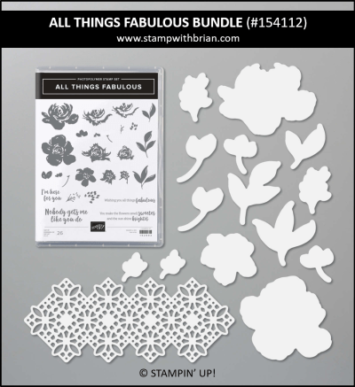 All Things Fabulous Bundle, Stampin Up! 154112