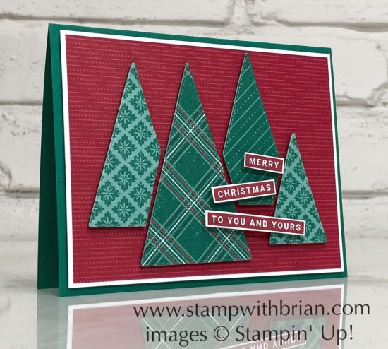 Joy and Peace, Tis the Season Designer Series Paper, Stitched Triangles Dies, Stampin Up!, Brian King