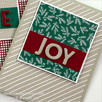 Joy with Classic Christmas, Stampin Up! Brian King