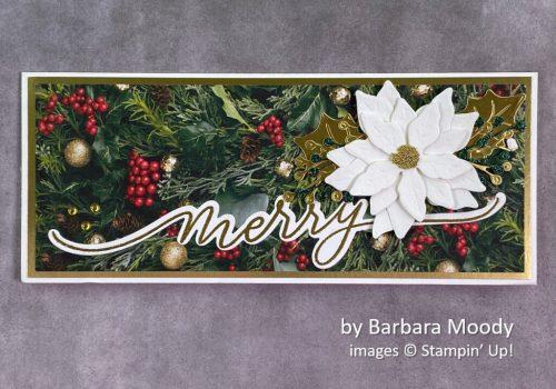 by Barbara Moody, Stampin Up! Christmas card