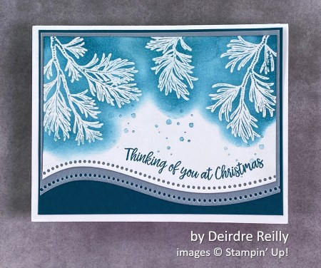 by Deirde Reilly, Stampin Up! Christmas card
