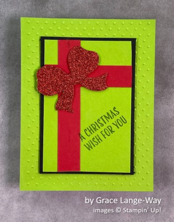 by Grace Lange-Way, Stampin Up! Christmas cards