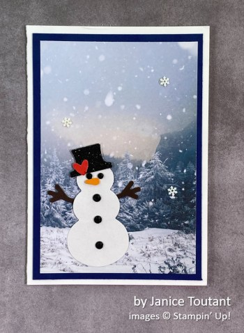 by Janice Toutant, Stampin Up! Christmas card
