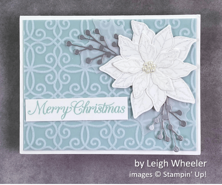 by Leigh Wheeler, Stampin Up! Christmas card