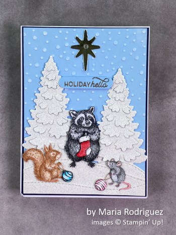 by Maria Rodriguez, Stampin Up! Christmas card