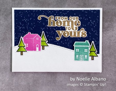 by Noelle Albano, Stampin Up! Christmas card