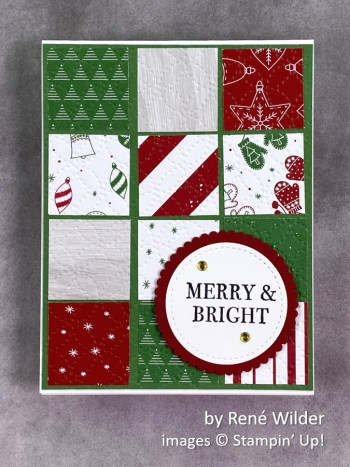 by Rene Wilder, Stampin Up! Christmas card