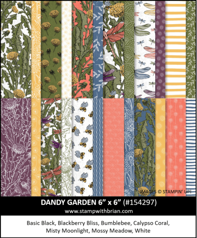 Dandy Garden Designer Series Paper, Stampin Up!, 154297