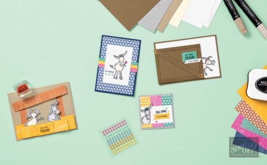 Darling Donkeys Project Collection, Stampin Up! samples