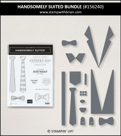 Handsomely Suited Bundle, Stampin Up! 156240