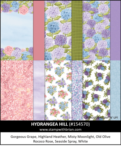 Hydrangea Hill Designer Series Paper, Stampin Up! 154570