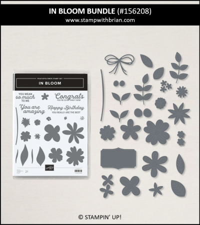In Bloom Bundle, Stampin Up!, 156208
