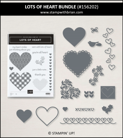 Lots of Heart Bundle, Stampin Up! 156202