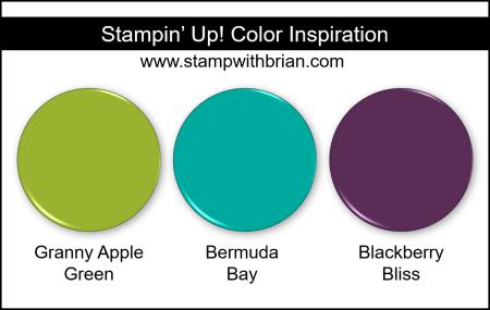 Stampin Up! Color Inspiration - Granny Apple Green, Bermuda Bay, Blackberry Bliss