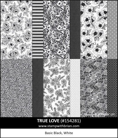 True Love Designer Series Paper, Stampin Up!, 154281