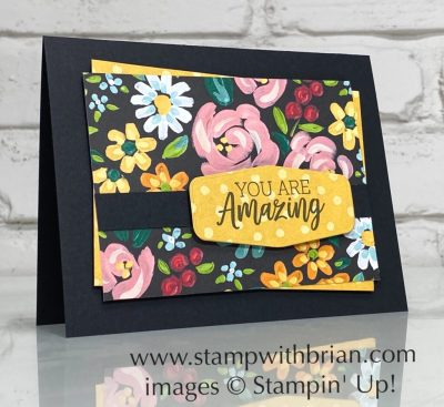 You Are Amazing, Field and Flowers, Stampin Up!, Brian King