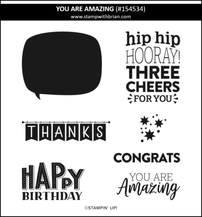 You Are Amazing, Stampin Up!, 154534